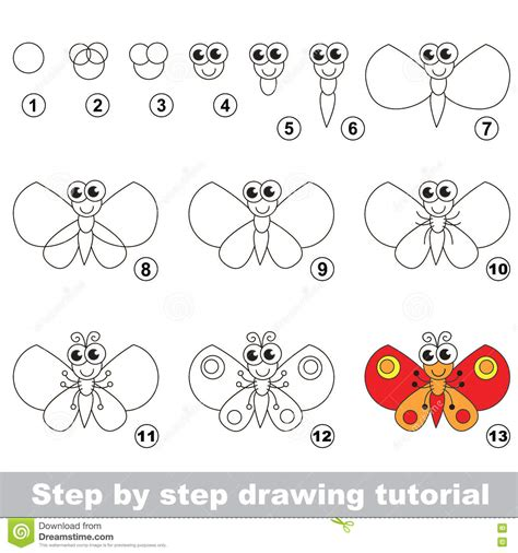 tutorial html simple drawing tutorial how to draw a butterfly vector