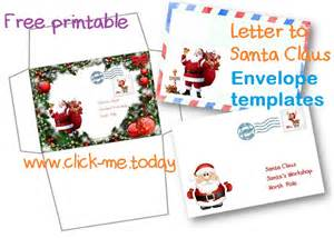 santa envelope template free printable letter to santa claus envelope template craft