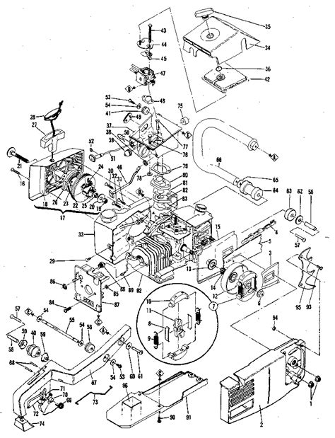 mcculloch parts diagram electronic ignition from mcculloch pm 610 motorized