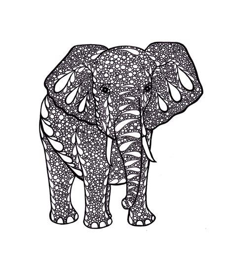 free printable zentangle art elephant art zentangle inspired art print pdf printable art