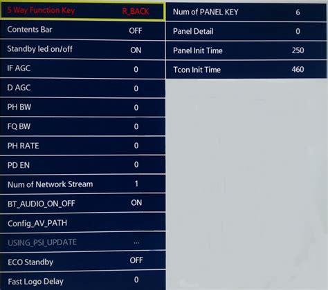 samsung system samsung system menu astra 2