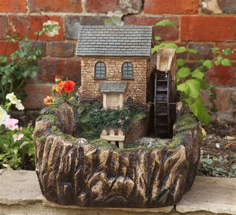 water mill solar water feature
