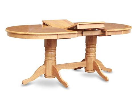 Bench Dining Room Table Set by Vancouver Oval Double Pedestal Dining Table In Oak 40 Quot X76