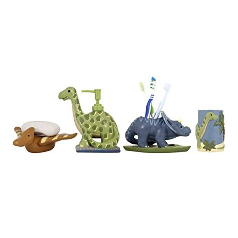 dinosaur bathroom decor modona four piece kids bathroom accessories set dinosaur