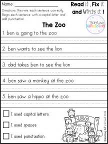 Fix Essay Free by Free 20 Fix It Up Pages These Are Great For Students In Kindergarten Grade And Second