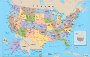 geography detailed map of united states