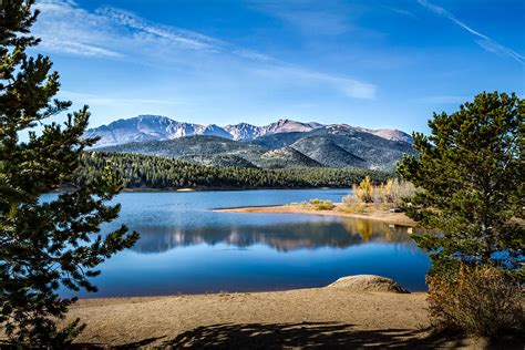 blue walls in pikes peak pikes peak lake photograph by pate
