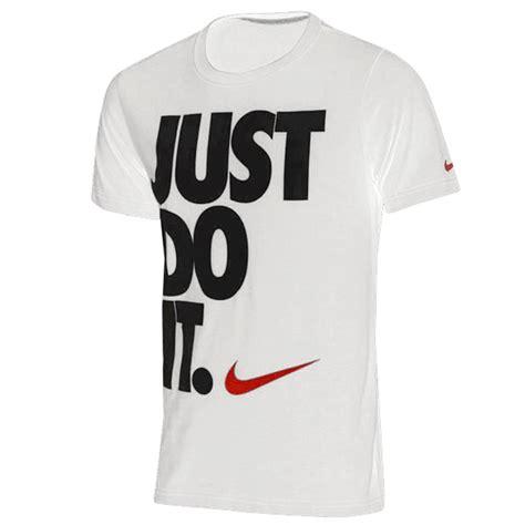 Tshirt Nike Just Do It Marron nike just do it s slim fit t shirt fitness shirt ebay