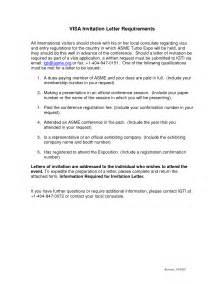 sle visa request letter letter sle paper and