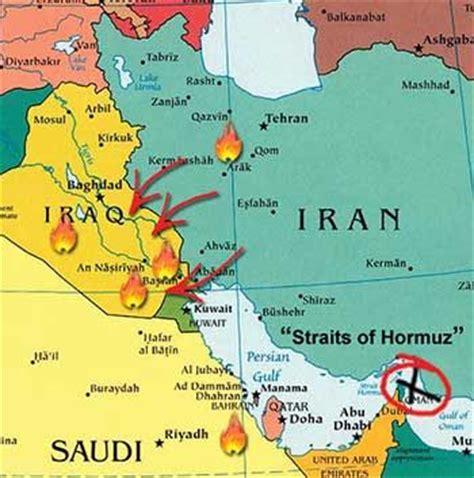 map iraq iran irans shia influence  spilled