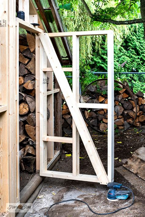 framing  shed  door making tips funky junk