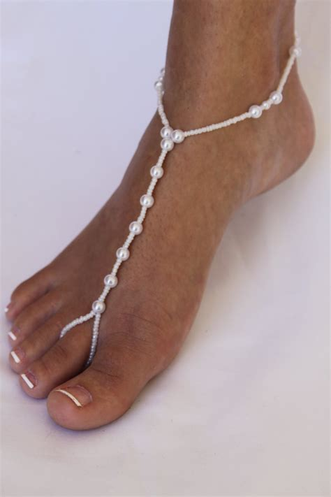 barefoot sandal barefoot sandal foot jewelry pearls for weddings