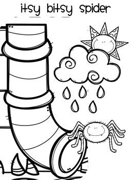 Coloring Page Itsy Bitsy Spider by Itsy Bitsy Spider Coloring Sheet By Emily Lowery Tpt
