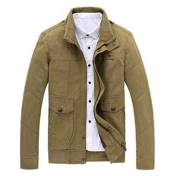 mens plus size s 6xl winter washed cotton jackets stand collar casual business coat at