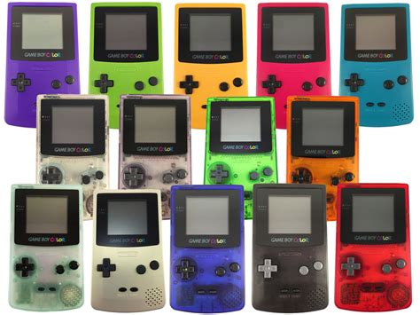 nintendo boy color gbc gameboy colour in 14 colours