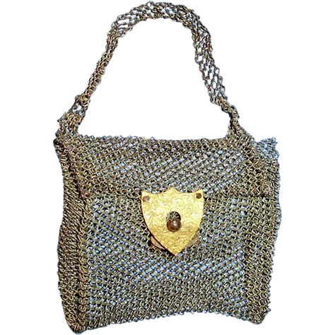 doll wire antique metal wire mesh doll purse from