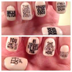 mean girls quotes nail decals by paipurnails on etsy