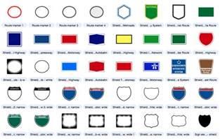 highway sign shield free editable map symbols mapdiva