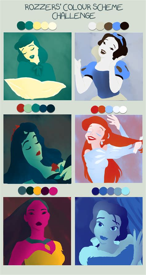 Meme Disney Princesses - disney colour meme by amylou2107 on deviantart