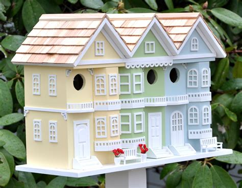 San Francisco Birdhouse Wood Painted Garden Yard Functional Decorative Outdoor   eBay