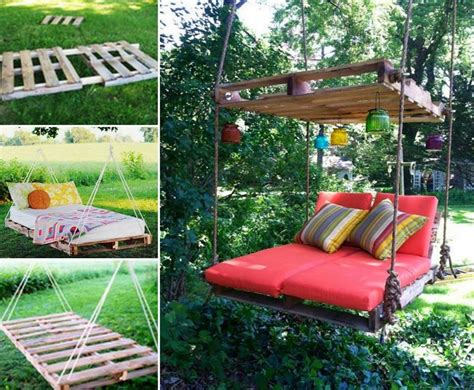 bed swing diy upcycle pallets into a fabulous swing bed wonderfuldiy com