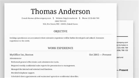 Best Looking Resume Templates cv maker creates beautiful resumes online for free
