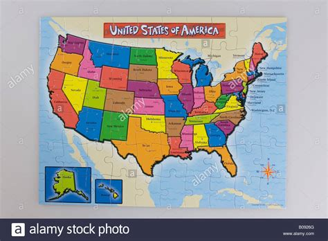 us map puzzle free puzzle map of the united states of america usa stock