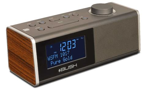 digital alarm clock radio with bluetooth walnut bush australia