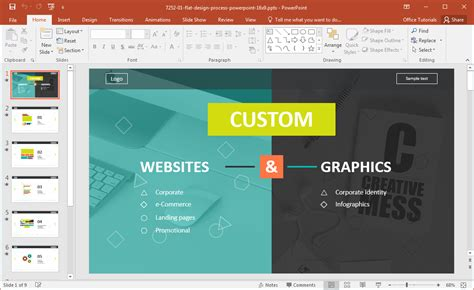 powerpoint tutorial website website development presentation template for powerpoint
