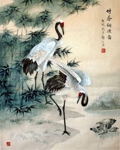 crane painting crane painting 4700009 65cm x 55cm 25 x 22
