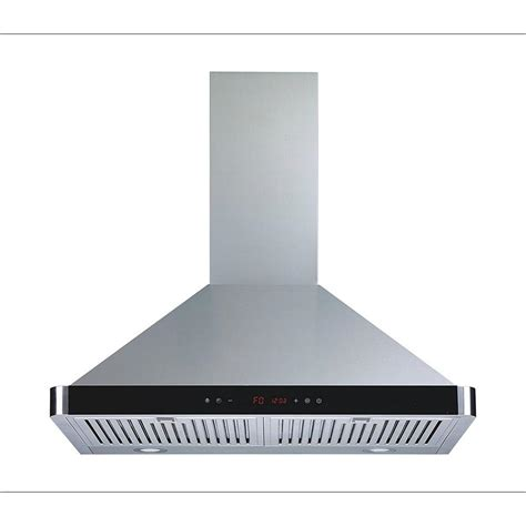 kitchen hood lights winflo 30 in convertible kitchen wall mount range hood in stainless steel with led lights touch