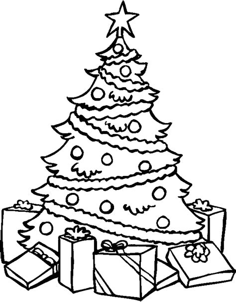 presents coloring pages christmas tree coloring page