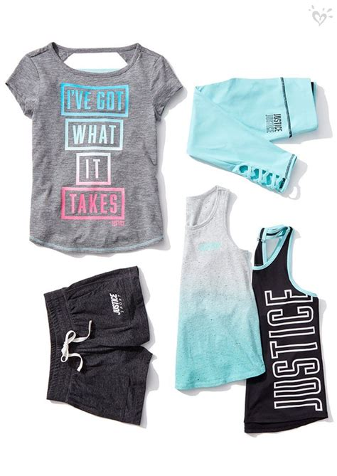 brand  activewear justice clothing outfits girls