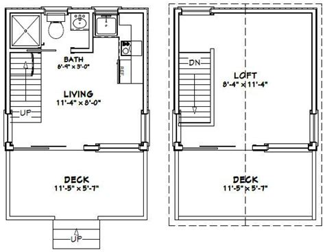 12x12 House Plans 12x12 House W Loft 12x12h1 268 Sq Ft Excellent Floor Plans Small House Plans