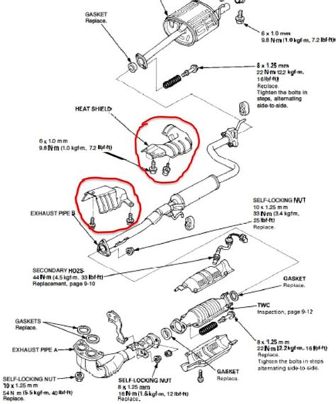 Paking Set Mitsubishi Galant V6 Tipe 6a12 honda crv 2008 catalytic converter heat shield hondacarz us