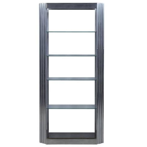 etagere real vintage fluted column chrome and glass 201 tag 232 re for sale at