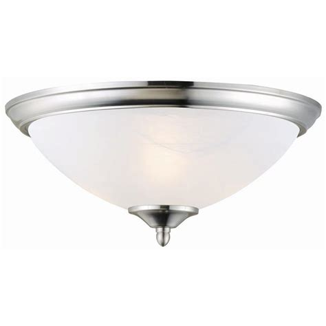 design house schoolhouse satin nickel ceiling mount light