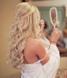 Wedding guest hairstyles half up for long blondeelite wedding looks