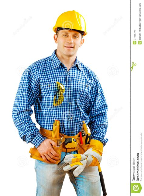 worker isolated royalty free stock photo image