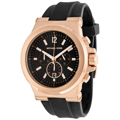 michael kors chronograph black black rubber