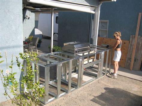 Diy Outdoor Kitchen Frames by Resplendent Outdoor Kitchen Frame Plans With Minimalist