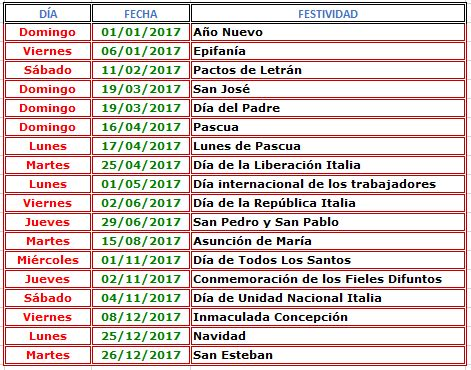 dias inhabiles 2017 en mexico dias inhabiles mexico 2017 calendario 2017 italia 171