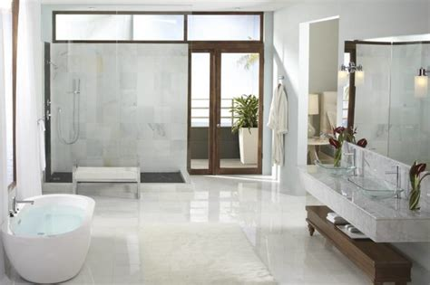 modern bathroom concepts moen align modern open concept bathroom contemporary