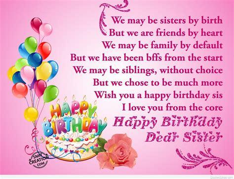 Happy Birthday Sis Quotes Dear Sister Happy Birthday Happy Birthday Myniceprofile Quotes