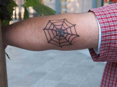 elbow spider web tattoo spider web tattoos designs ideas and meaning tattoos