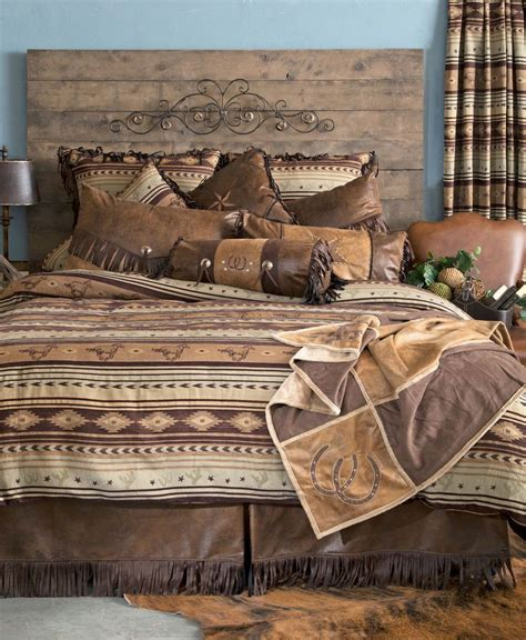 western futon details about cabin brown mustang western comforter