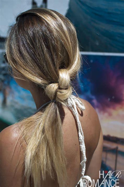 island hair styles the double knot ponytail tutorial hair romance