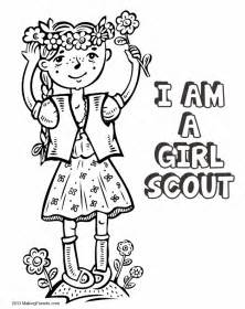 free coloring pages of daisy scout law