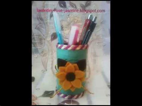 cara membuat pohon natal dari tali rafia cara mudah membuat tempat pensil dari kaleng bekas dan