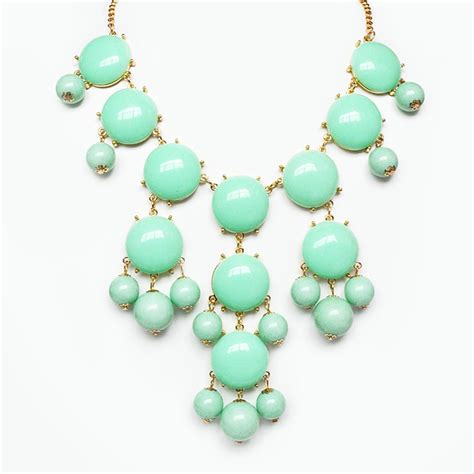 Bubble Light Night Light Mint Bubble Necklace Chunky Bib Necklace With Cascading